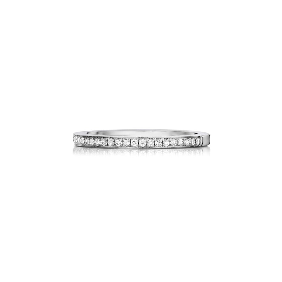 Henri Daussi pave set diamond wedding band R4 available at Richter & Phillips Jewelers Downtown Cincinnati OH