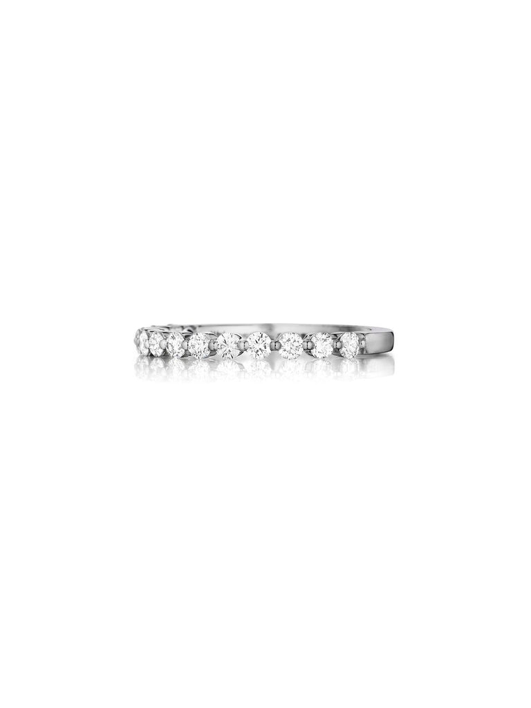 Henri Daussi shared prong diamond wedding band R6 available at Richter & Phillips Jewelers Downtown Cincinnati OH