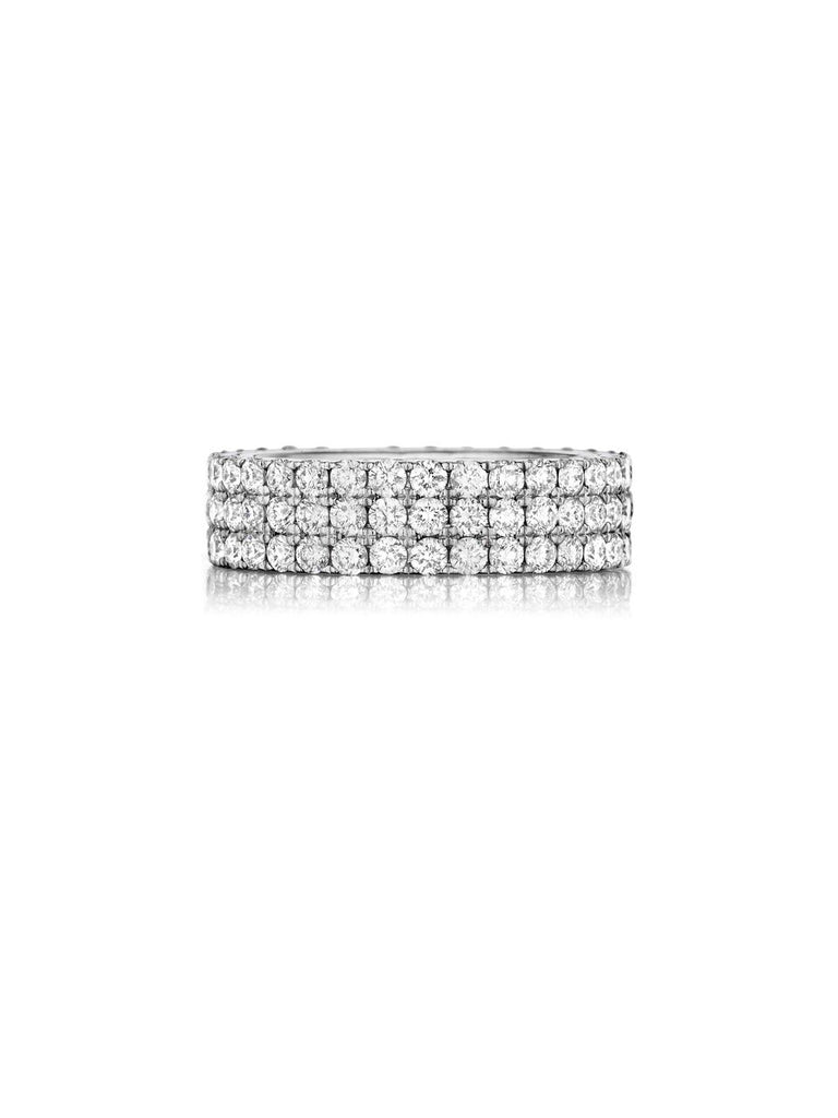 henri daussi triple row pave set diamond wedding band r16 available at Richter & Phillips Jewelers Downtown Cincinnati OH