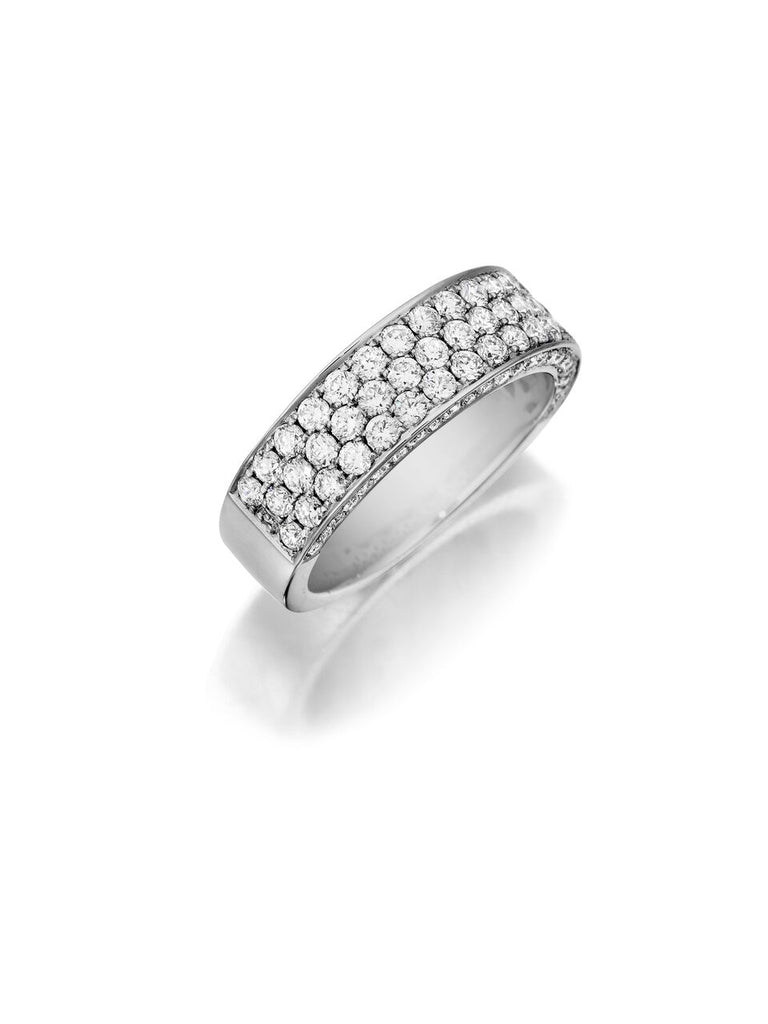 Henri Daussi triple row pave diamond wedding band R19 Richter & Phillips Jewelers Downtown Cincinnati, OH
