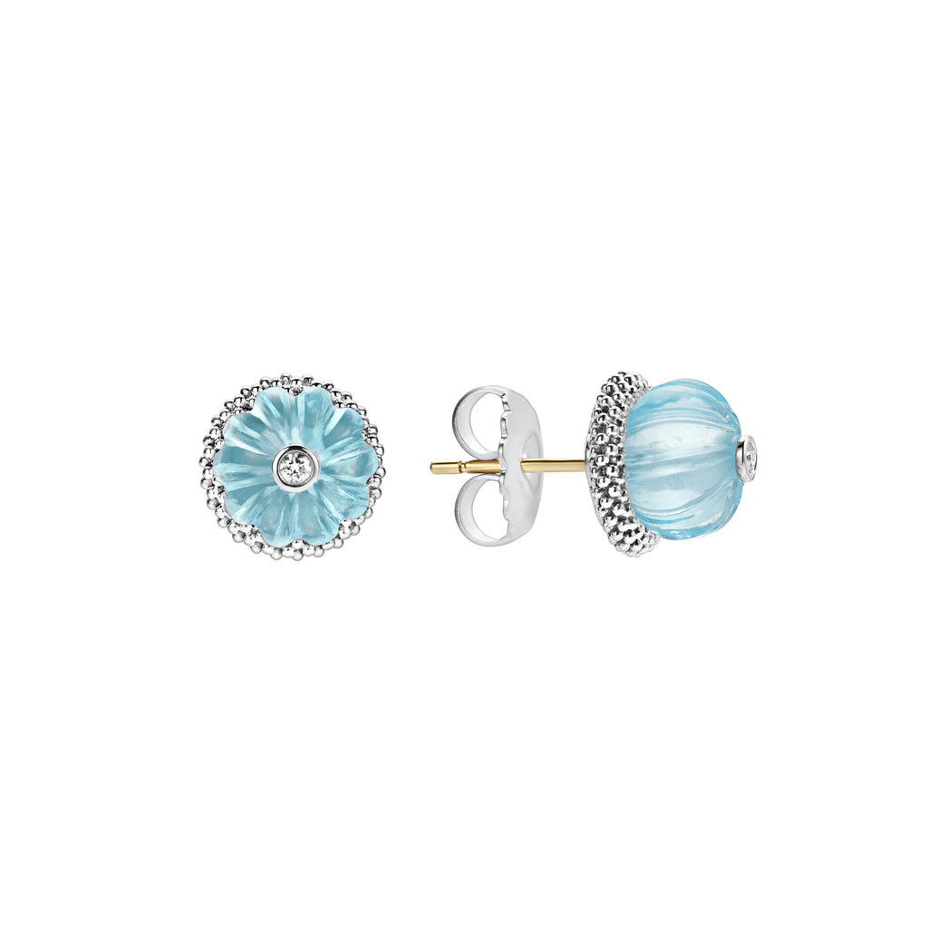 LAGOS CAVIAR FOREVER Sky blue topaz STUD EARRINGS 01-81649-SB