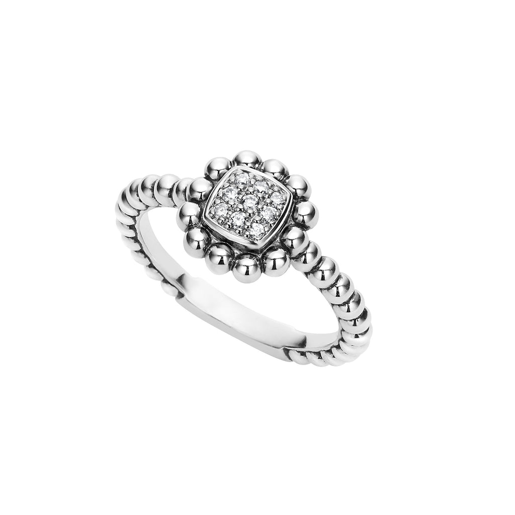 Lagos Caviar Spark Diamond Ring 02-80585-DD Richter & Phillips Jewelers Cincinnati OH