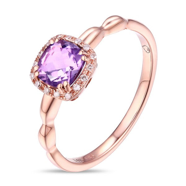 Luvente rose gold amethyst and diamond ring R01520-AM.R Richter & Phillips Jewelers Cincinnati, OH