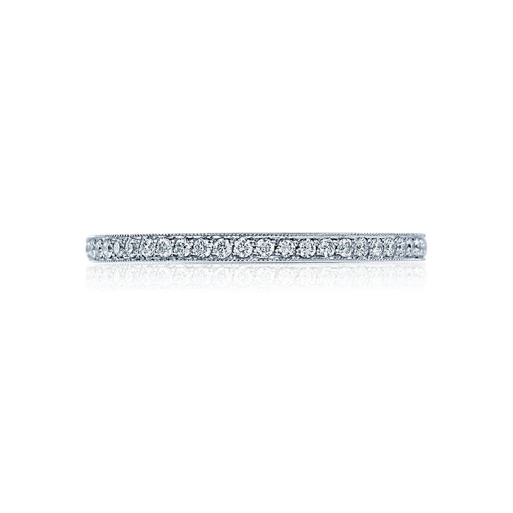 Ribbon Diamond Eternity Wedding Ring