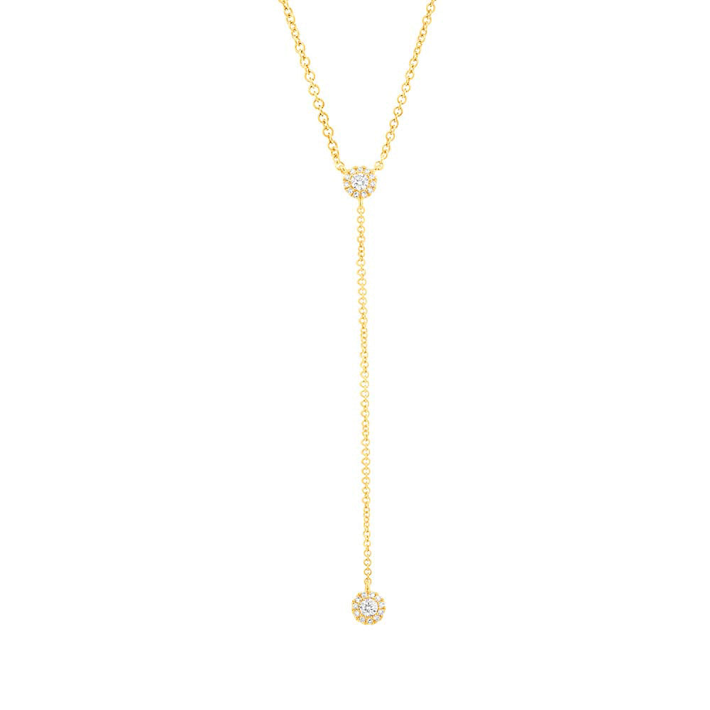 Shy Creation Diamond Lariat Necklace SC55002984 Richter & Phillips Jewelers Cincinnati OH