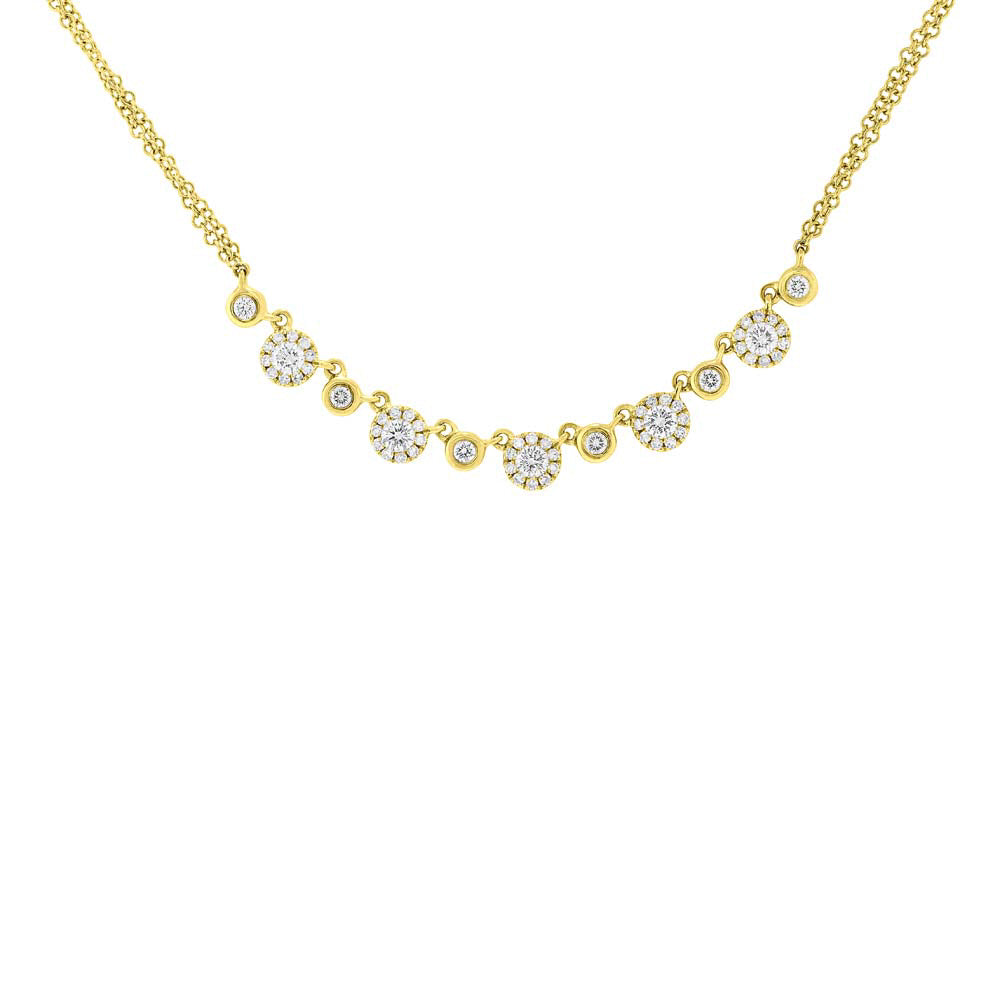 Shy Creation Yellow Gold Diamond Necklace SC55004863 Richter & Phillips Jewelers Cincinnati OH