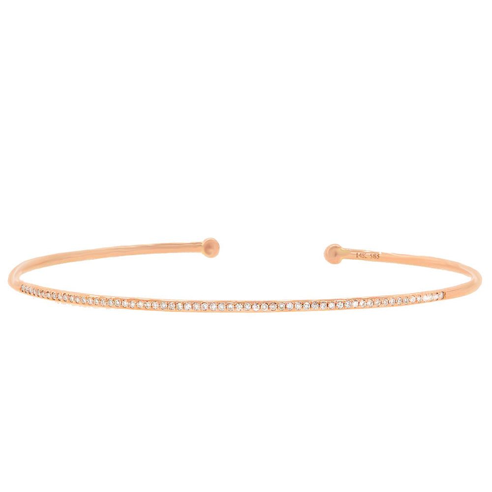 Shy Creation Rose Gold Diamond Bangle Bracelet SC55001307 Richter & Phillips Jewelers Cincinnati OH