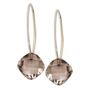 Carla Smokey Quartz dangle earrings 13897sq