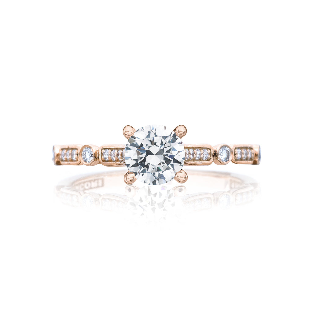 Tacori rose gold diamond engagement ring 202-2RD55PK