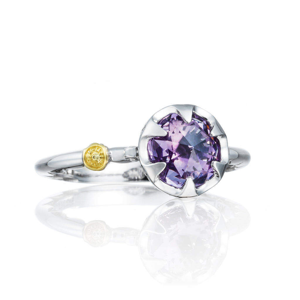 Tacori Petite Crescent Bezel Ring featuring Amethyst SR19701 Richter & Phillips Jewelers Cincinnati OH