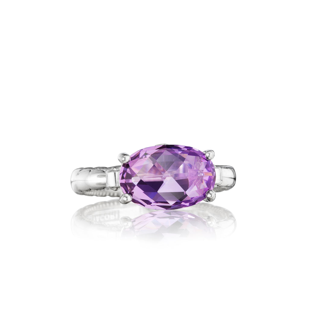 Tacori East-West Oval Ring featuring Amethyst SR13901 Richter & Phillips Jewelers Cincinnati, OH