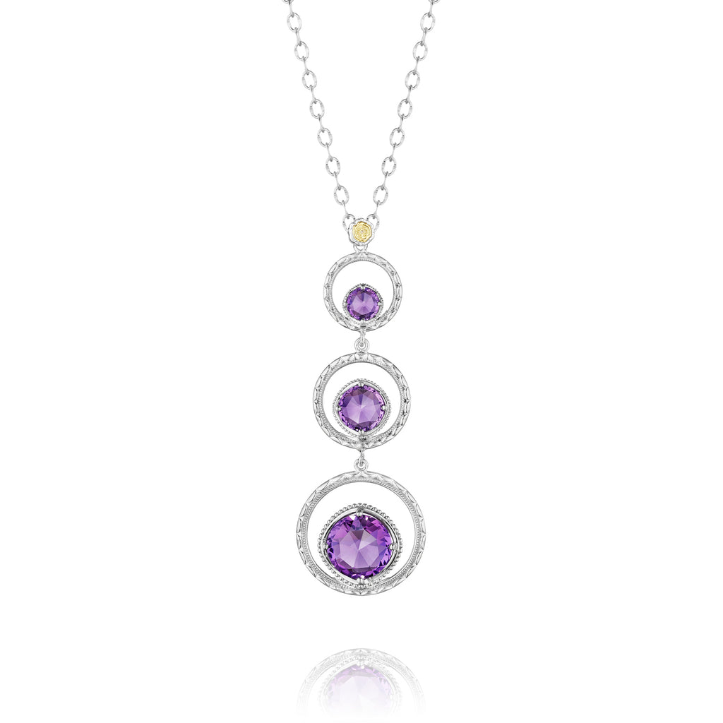 Tacori Skipping Stone Necklace featuring Amethyst SN14501 Richter & Phillips Jewelers Cincinnati OH