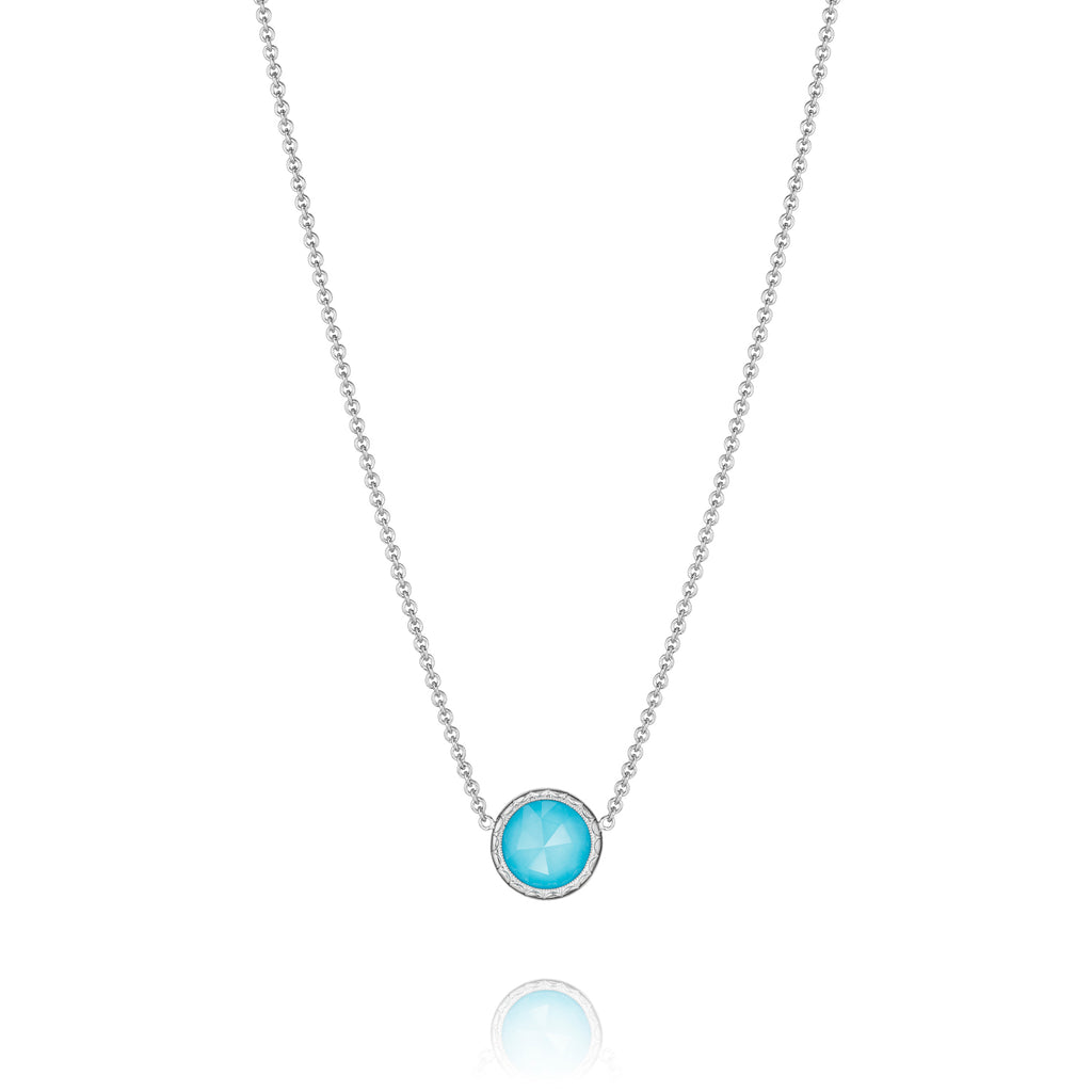 Tacori Floating Bezel Necklace featuring Neo-Turquoise SN15305 Richter & Phillips Jewelers Cincinnati OH
