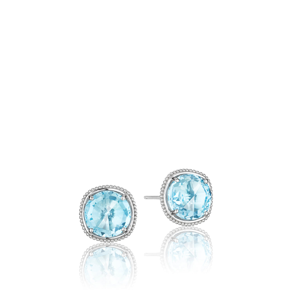 Tacori Bold Simply Gem Stud featuring Sky Blue Topaz SE15602 Richter & Phillips Jewelers Cincinnati OH