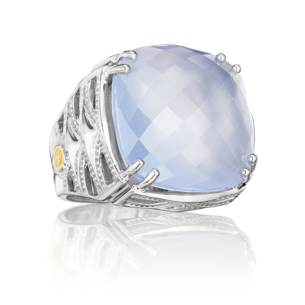 Tacori Bold Woven Crescent Ring featuring Chalcedony SR13126 Richter & Phillips Jewelers Cincinnati OH