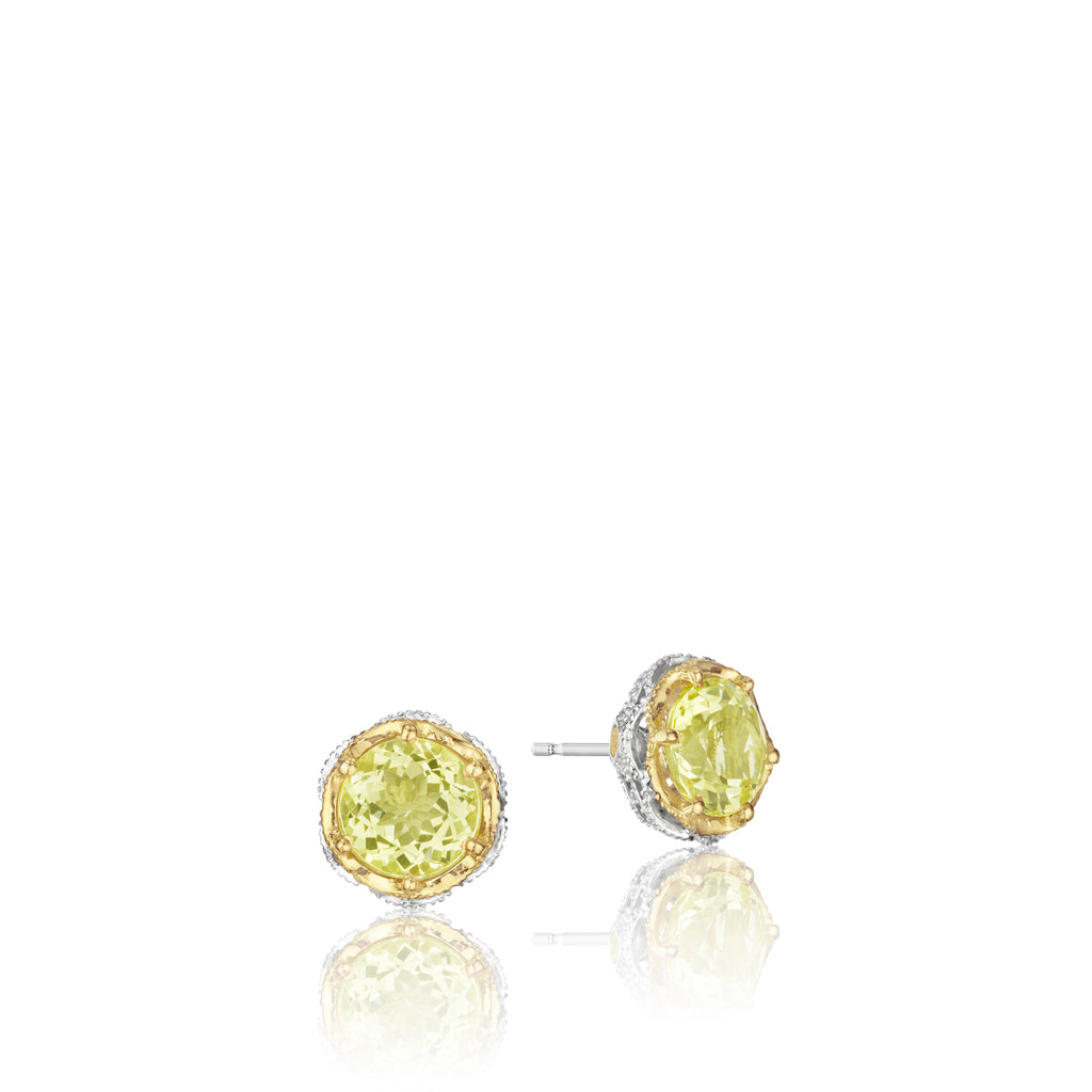 Tacori Crescent Crown Studs featuring Lemon Quartz SE105Y07 Richter & Phillips Jewelers Cincinnati OH