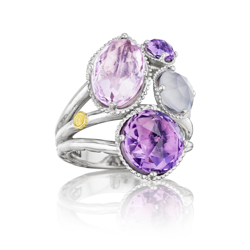 Tacori Precious Cluster Ring featuring Assorted Gemstones SR143130126 Richter & Phillips Jewelers Cincinnati OH