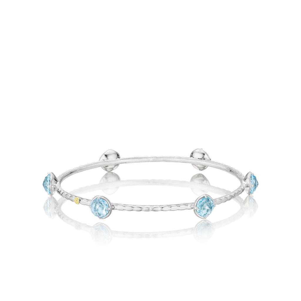 Tacori Color Pop Multi Bangle featuring Sky Blue Topaz SB12402 Richter & Phillips Jewelers Cincinnati OH