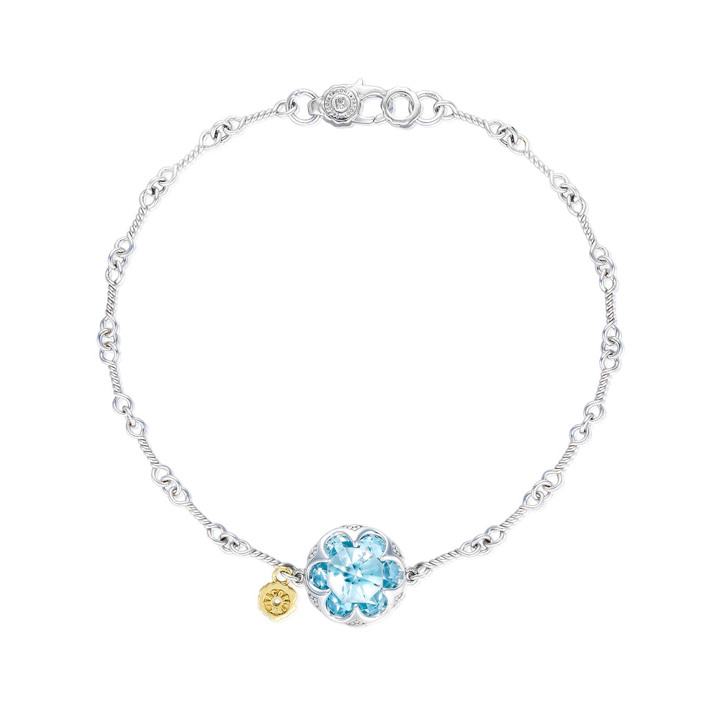 Tacori Crescent Gemstone Bracelet featuring Sky Blue Topaz SB19802 Richter & Phillips Jewelers Cincinnati OH