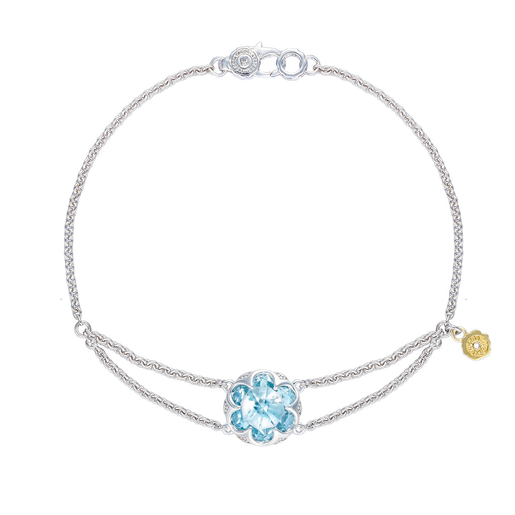 Tacori Split Chain Bracelet featuring Sky Blue Topaz SB19902 Richter & Phillips Jewelers Cincinnati OH