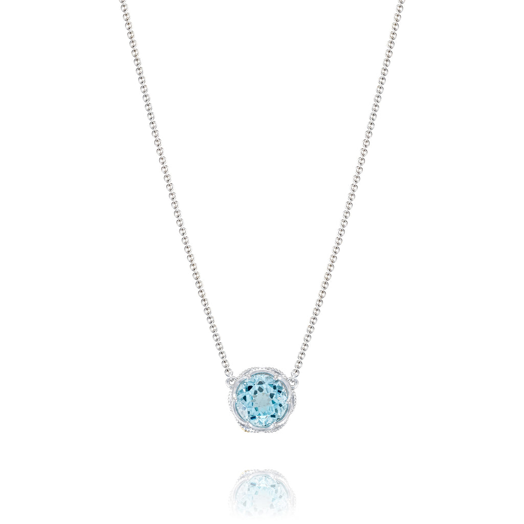 Tacori Bold Crescent Station Necklace featuring Sky Blue Topaz SN22402 Richter & Phillips Jewelers Cincinnati OH