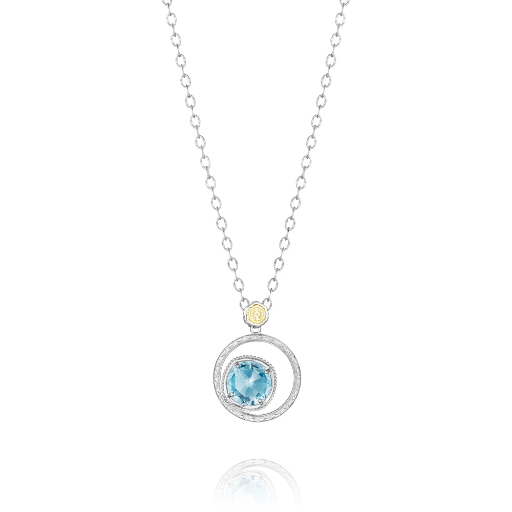 Tacori Bold Bloom Necklace featuring Sky Blue Topaz SN14102 Richter & Phillips Jewelers Cincinnati OH