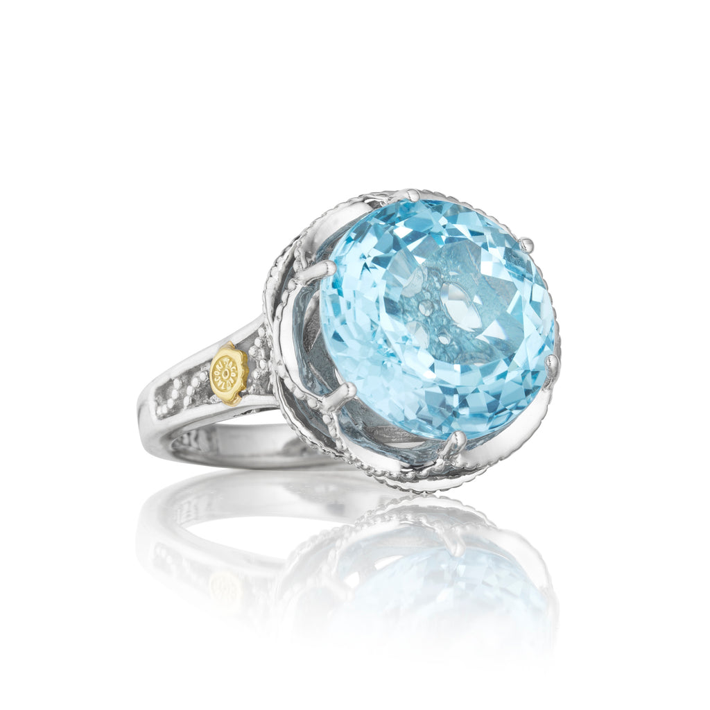 Tacori Crescent Gem Ring featuring Sky Blue Topaz SR12302 Richter & Phillips Jewelers Cincinnati OH