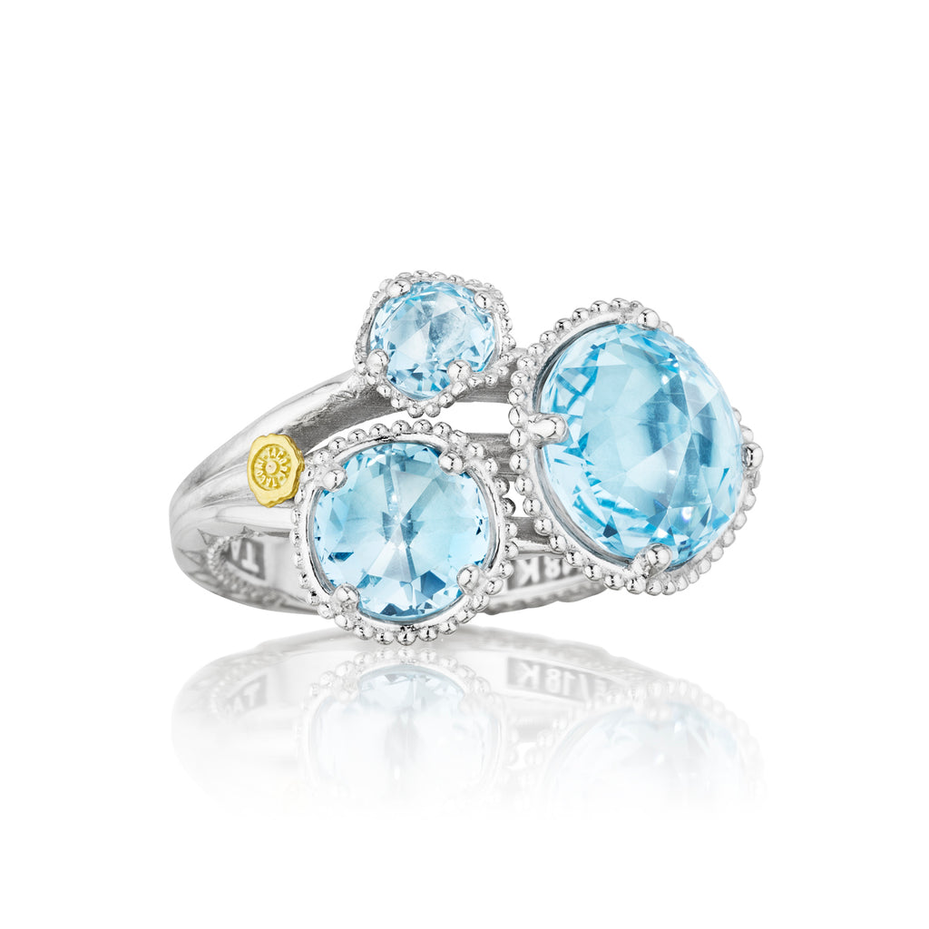 Budding Brilliance Ring featuring Sky Blue Topaz SR13702 Richter & Phillips Jewelers Cincinnati OH