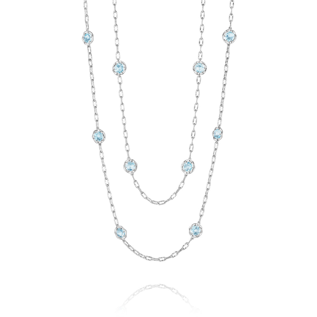 "Tacori 38"" Candy Drop Necklace featuring Sky Blue Topaz SN10802 Richter & Phillips Jewelers Cincinnati OH"