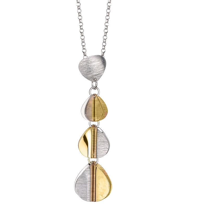 Frederic Duclos two-tone sectional necklace