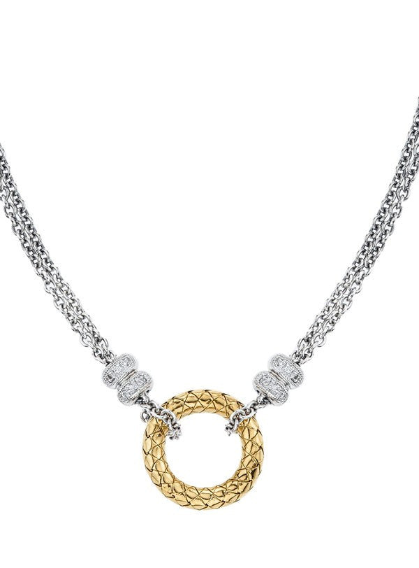 Sterling & 18K Diamond Necklace