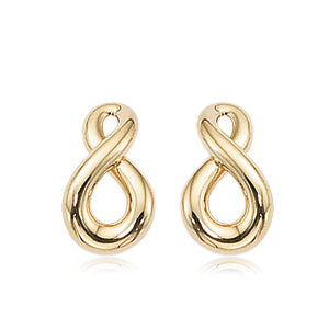 Carla yellow gold figure eight earrings 21/3210