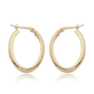 Carla 14k yellow gold oval hoops 03/108