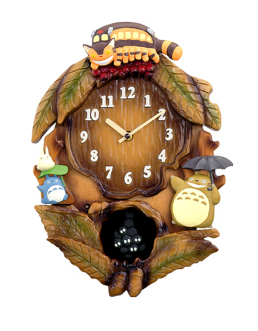 Totoro Nekobus and Friends Clock with Theme Song