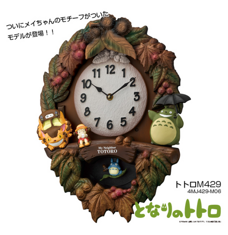 Totoro Clock with Mei-chan