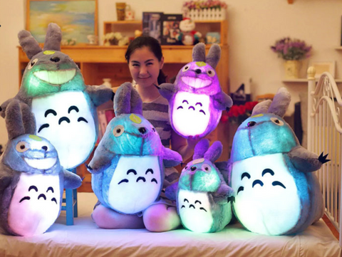 Glowing Totoro Plush Doll Night Light