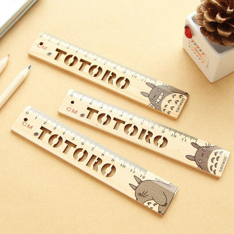My Neighbor Totoro Designed 15cm Wooden Ruler