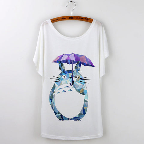 Totoro Art T-Shirts For Women