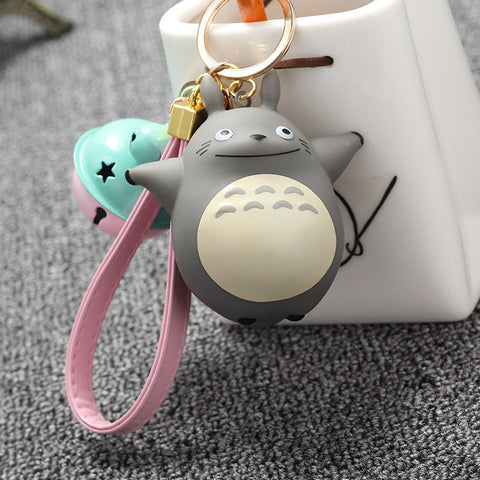 Totoro Keychain with Bell