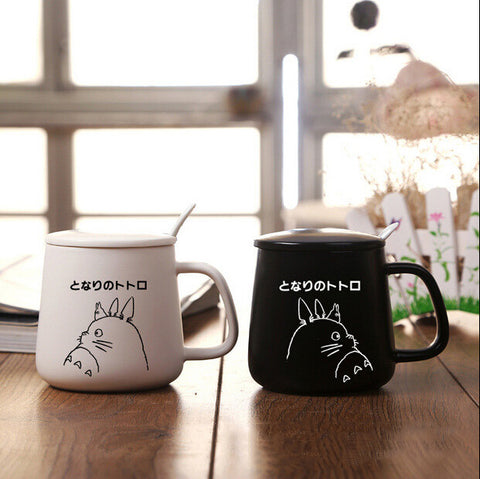 Totoro Mug Set with Spoon and Cover