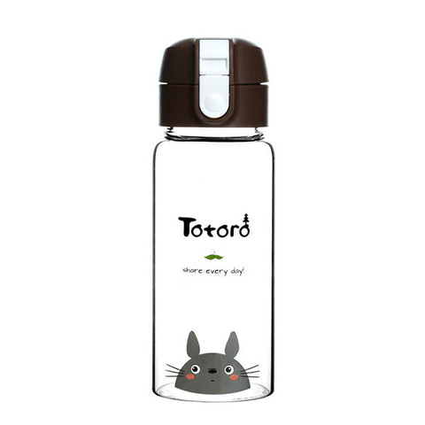 Totoro 400ml Transparent Water Bottle