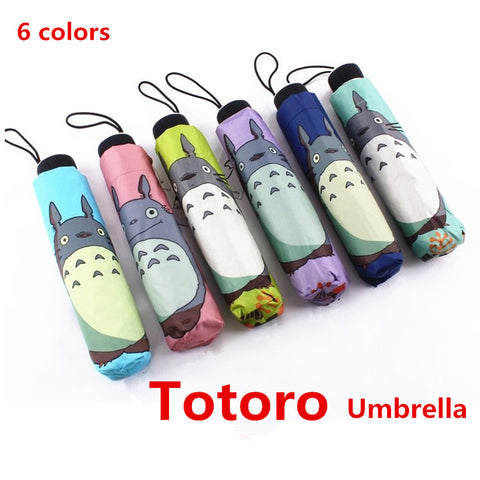 Totoro Pongee Collapsable Umbrella