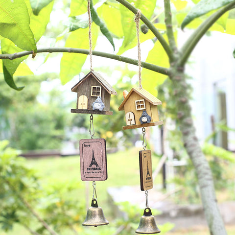 Japanese Totoro Wooden House Wind Chime