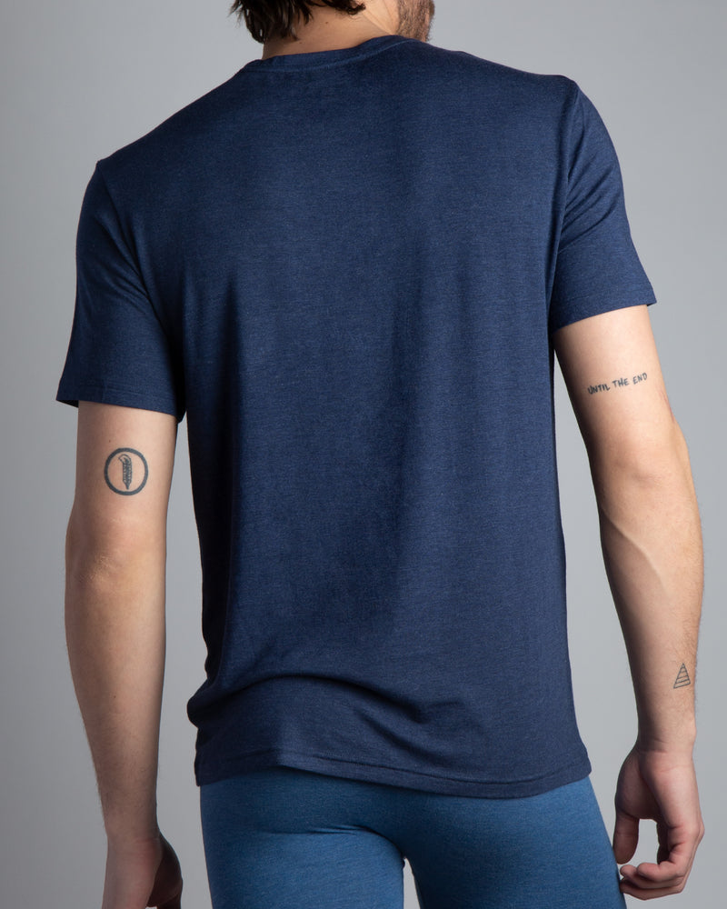 BLACK Modal Short Sleeve Crew Neck Tee