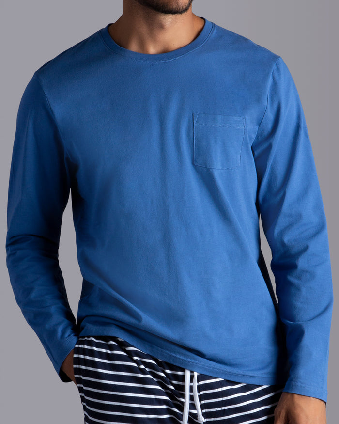 Cotton Long Sleeve Pocket T-shirt