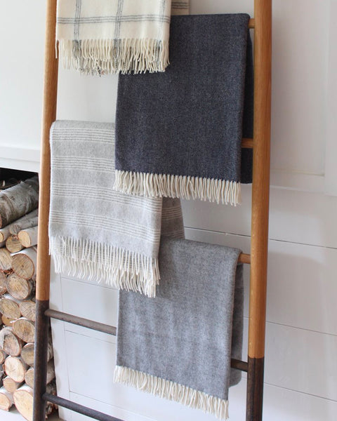 Merino Wool Throw - Grey