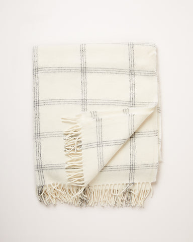 Check Alpaca Wool Throw