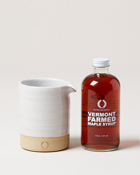 Small Silo Pitcher & 8 oz. Syrup