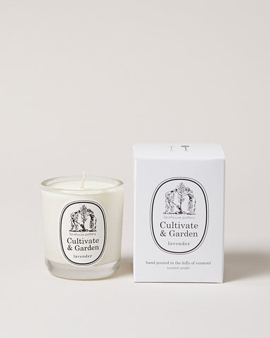 Cultivate & Garden Lavender Candle hand poured in Vermont