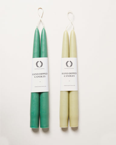 Taper Candles - Green